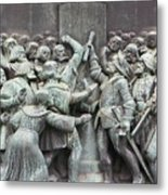 Detail From The Reformation Monument In Copenhagen Metal Print