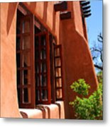 Detail Of A Pueblo Style Architecture In Santa Fe Metal Print