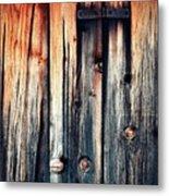 Detail Of An Old Wooden Door Metal Print
