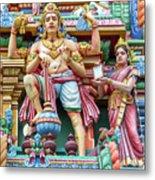 detail of Arulmigu Kapaleeswarar Temple, Chennai, Tamil Nadu Metal Print