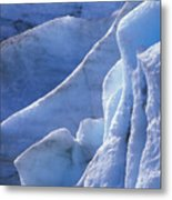 Detail Of Blue Ice On Exit Glaicer Metal Print
