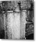 Detail Of Capital Of Cloister At Cong Abbey Cong Ireland Metal Print