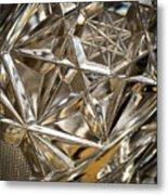 Detail Of Cut Glass Metal Print