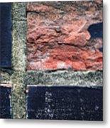 Detail Of Damaged Wall Tiles Metal Print