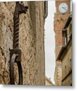 Detail Of Iron On A Wall Of Pienza, Tuscany, Italy Metal Print