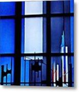 Detail Of Modern Johannes Schreiter Window Mainz 2 Metal Print