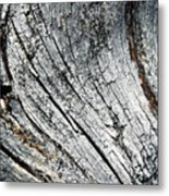 Detail Of Old Weathered Wood Metal Print