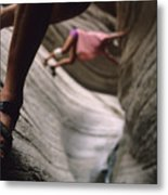 Detail Of Sandals And Hikers In A Slot Metal Print