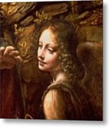 Detail Of The Angel From The Virgin Of The Rocks  Metal Print by Leonardo Da Vinci
