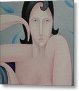 Detailed   The Seated Pink Nude  2009 Metal Print