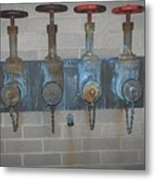 Detailed Four Pipes Metal Print