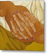 Detailed  The Hands  The Seated Gipsy  2009 Metal Print
