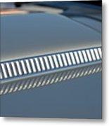Details On Hood Of 1966 Chevrolet Corvette Sting Ray 427 Turbo-jet Metal Print