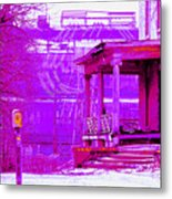 Deterioration In Neon Metal Print