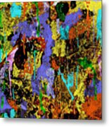 Detour Abstract Art Metal Print