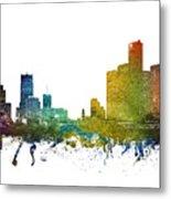 Detroit Cityscape 01 Metal Print