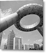 Detroit Dodge Fountain Hart Plaza Metal Print