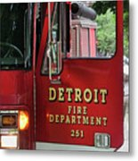 Detroit Fire Department Metal Print
