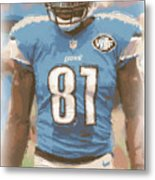 Detroit Lions Calvin Johnson 1 Metal Print