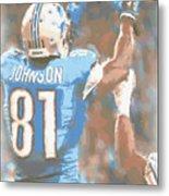 Detroit Lions Calvin Johnson 2 Metal Print