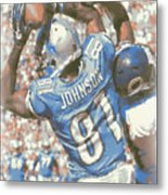 Detroit Lions Calvin Johnson 3 Metal Print