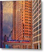 Detroit People Mover Metal Print