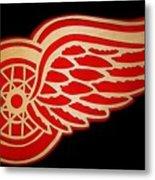Detroit Red Wings - Scrolled Metal Print