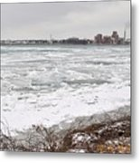 Detroit River Metal Print