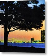 Detroit River View Metal Print
