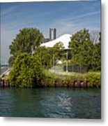 Detroit Riverfront 1 Metal Print
