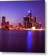 Detroit Skyline 2 Metal Print