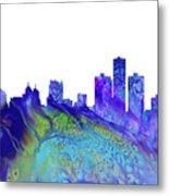 Detroit Skyline 3 Metal Print