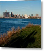 Detroit Skyline And Shadow Metal Print