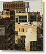 Detroit Steam City Metal Print