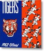 Detroit Tigers 1962 Yearbook Metal Print