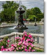 Detroit Zoo Fountain Metal Print