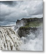 Dettifoss Waterfall Metal Print