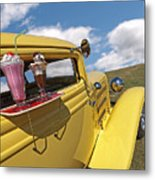 Deuce Coupe At The Drive-in Metal Print