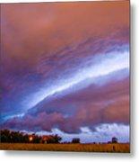 Developing Nebraska Night Shelf Cloud 006 Metal Print