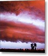 Developing Nebraska Night Shelf Cloud 009 Metal Print