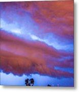 Developing Nebraska Night Shelf Cloud 012 Metal Print