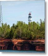 Devils Island Apostle Islands Lighthouse Metal Print