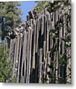 Devils Postpile National Monument - Mammoth Lakes - East California Metal Print by Christine Till
