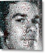 Dexter Blood Splatter Mosaic Metal Print