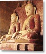 Dhammayangyi Temple Buddhas Metal Print