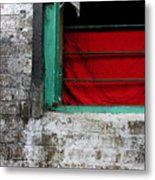 Dharamsala Window Metal Print