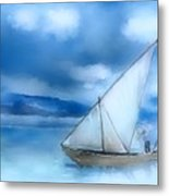 Dhow Fishing Vessel Metal Print