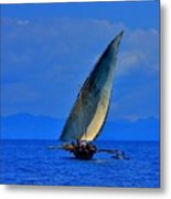 Dhow On The Indian Ocean 2 Metal Print