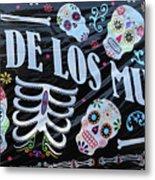 Dia De Los Muertos Banner  Metal Print