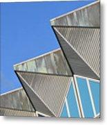 Diagonal Blue B Metal Print